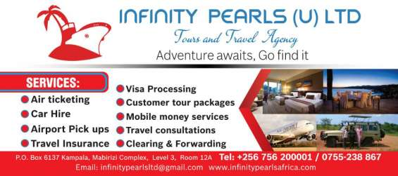 Tours, hotel booking, air ticketing, entebbe airport pickups +25675620001