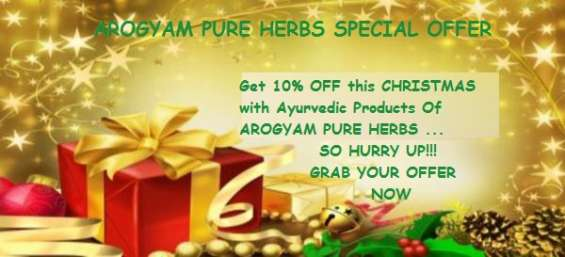 Get 10% off on ayurvedic products of arogyam pure herbs