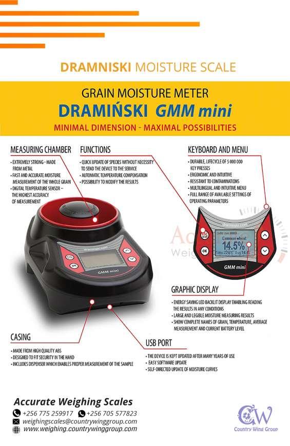 Draminski grain moisture meters at accurate weighing scales kampala