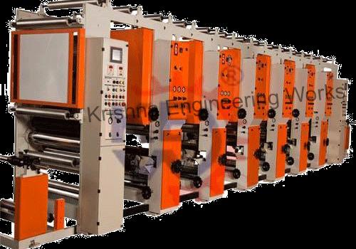 Máquina de impresora del rotograbado desenrolla la unidad, estaciones de impresión
